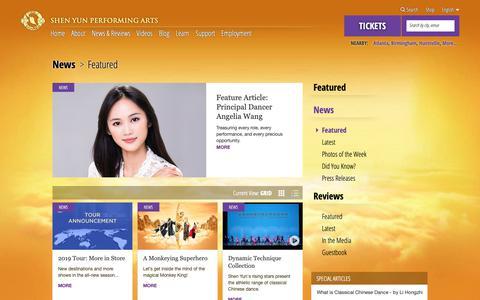 Screenshot of Press Page shenyun.com - Shen Yun Reviews, News, and Features - captured Nov. 14, 2018