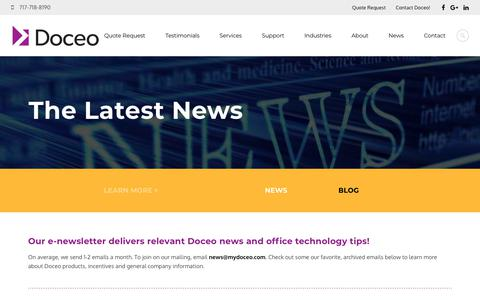Screenshot of Press Page mydoceo.com - Read the Latest Technology News from - captured Nov. 14, 2018