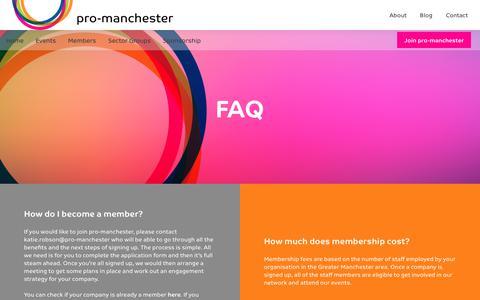 Screenshot of FAQ Page pro-manchester.co.uk - FAQ - pro-manchester - captured July 24, 2018