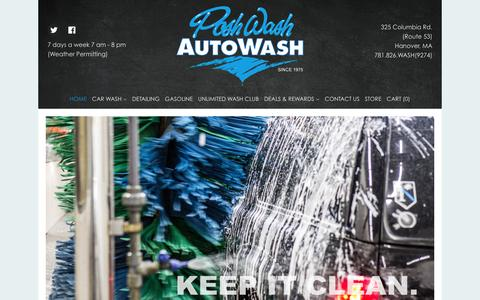 Screenshot of Home Page poshwash.com - Posh Wash - captured Jan. 29, 2016