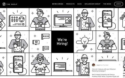 Screenshot of Jobs Page theshelf.com - Anjali says… - captured Feb. 15, 2019