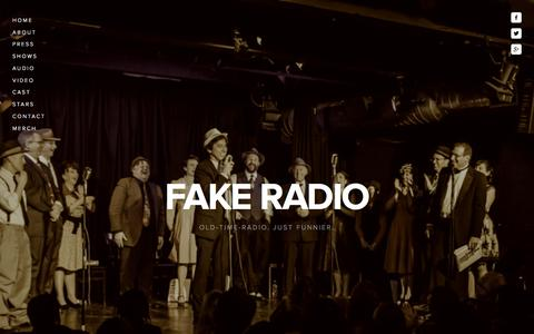 Screenshot of Home Page fakeradio.net - Fake Radio - captured Aug. 3, 2015