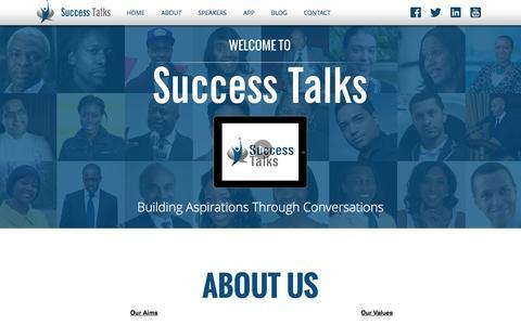 Screenshot of Home Page success-talks.co.uk - Success Talks | Building Aspirations Through Conversations - captured Oct. 7, 2014