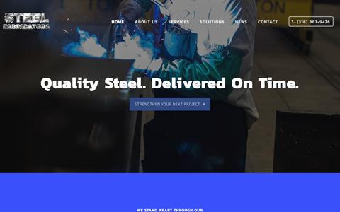 Screenshot of Home Page steelfab.com - Home - Steel Fabricators - captured Oct. 22, 2018