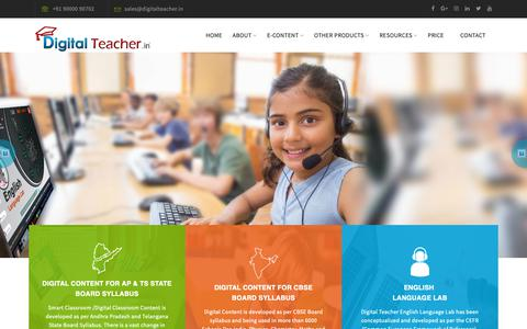 Screenshot of Home Page digitalteacher.in - Digital Teacher - Smart Classroom Services Provider - captured Oct. 7, 2018
