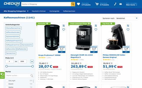 Kaffeemaschine günstig im CHECK24-Preisvergleich