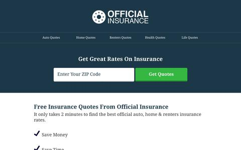 Screenshot of Home Page official-insurance.com - Official Insurance - captured July 10, 2018