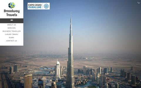 Screenshot of Home Page broadwaydubai.com - Home | Broadway Dubai - captured Jan. 1, 2016