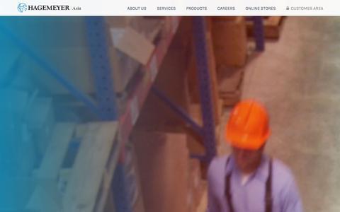 Screenshot of Home Page hagemeyerasia.com - Integrated Supply Solution on a Global Scale - Hagemeyer Asia - captured Jan. 22, 2016