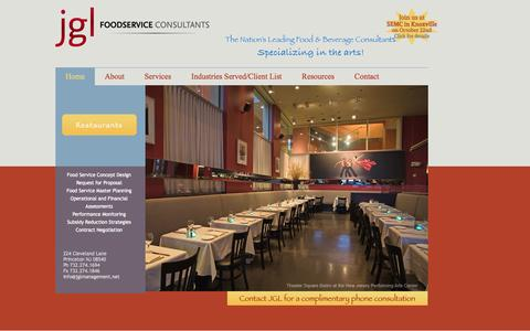 Screenshot of Home Page jglmanagement.net - JGL Management Services Company - captured Oct. 4, 2014