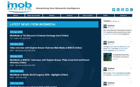 Screenshot of Press Page imobmedia.net - iMobMedia News - captured Aug. 6, 2016