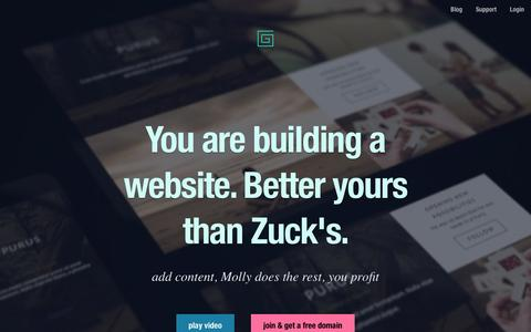 The Grid - You are building a website. Better yours than Zuck's.