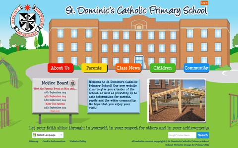 Screenshot of Home Page stdominics.camden.sch.uk - Home | St Dominic Catholic Primary School - captured Oct. 8, 2015