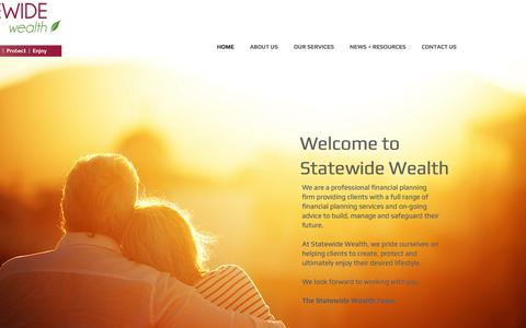 Screenshot of Home Page statewidewealth.com.au - Statewide Wealth, Financial Planning, Brisbane and Ipswich Qld - captured Aug. 15, 2016