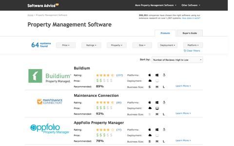 Top Property Management Software - 2016 Reviews & Pricing