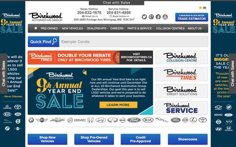 Car Dealerships Winnipeg | New & Used Cars, Trucks, and SUVs | Birchwood Automotive Group