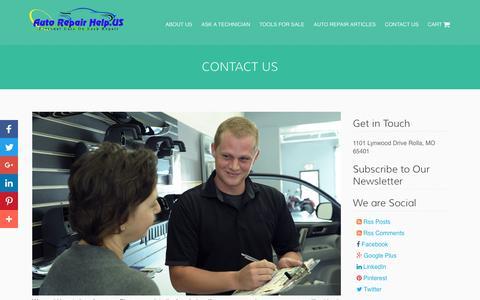 Screenshot of Contact Page autorepairhelp.us - Contact Us - Auto Repair Help - captured April 12, 2017
