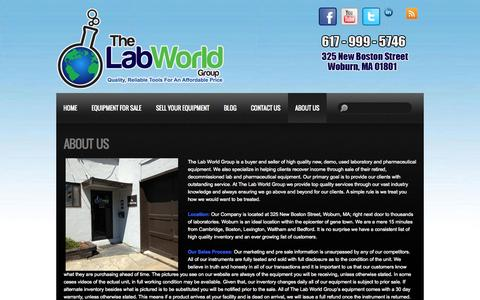 Screenshot of About Page thelabworldgroup.com - About Us | - captured Sept. 19, 2014