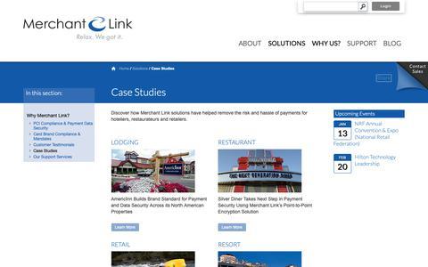 Screenshot of Case Studies Page merchantlink.com - Case Studies   Merchant Link - captured Nov. 11, 2018