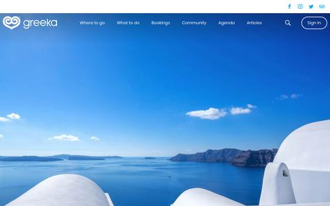 Screenshot of Home Page greeka.com - Book your holidays in Greece and the top Greek islands - Greeka.com - captured May 23, 2019