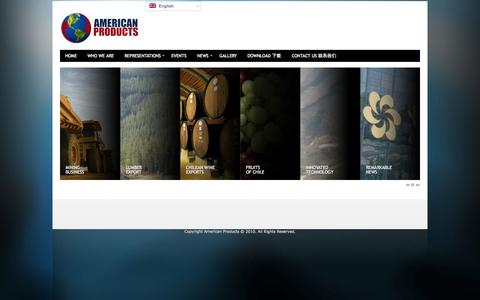 Screenshot of Home Page americanproducts.cl - American Products - captured Oct. 4, 2014