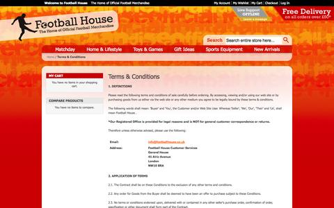 Screenshot of Terms Page footballhouse.co.uk - Football House - The Home of Official Football Merchandise - Terms & Conditions - captured Sept. 30, 2014