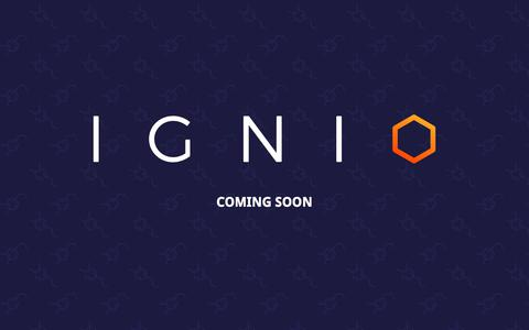 Screenshot of Home Page ignio.co.uk - Ignio Coming Soon - captured July 11, 2019