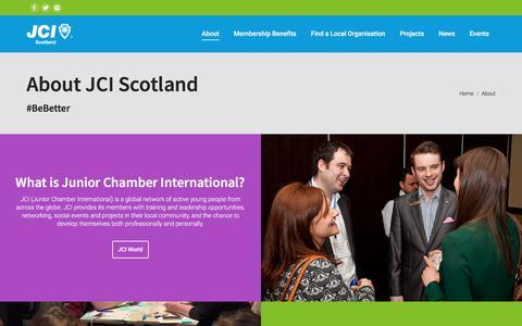Screenshot of About Page jciscotland.org.uk - About - JCI Scotland - captured July 26, 2018
