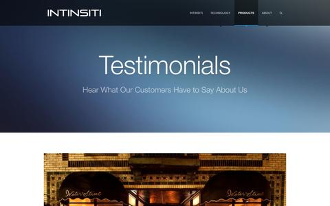 Screenshot of Testimonials Page intinsiti.com - Testimonials |         Intinsiti – Metabolic Chemistry – The Most Advanced Cleaning Chemistry in the World - captured Dec. 21, 2015