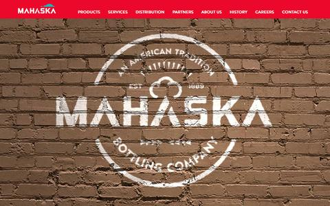 Screenshot of Contact Page mahaskabottling.com - Mahaska - captured Oct. 4, 2014