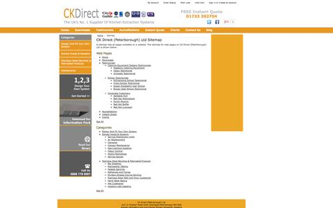 Screenshot of Site Map Page ckdirect.co.uk - CK Direct (Peterborough) Ltd Sitemap - captured Oct. 1, 2014