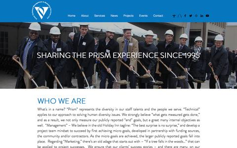 Screenshot of About Page prismtechnical.com - About | Prism Technical Management & Marketing Services, LLC. - captured July 22, 2018