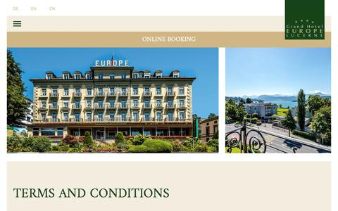 Screenshot of Terms Page europe-luzern.ch - Terms & Conditions - Grand Hotel Europe Luzern - captured Sept. 7, 2017