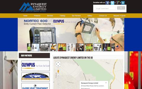 Screenshot of Contact Page dynaquestenergy.com - Dynaquest Energy Limited - captured Nov. 3, 2014