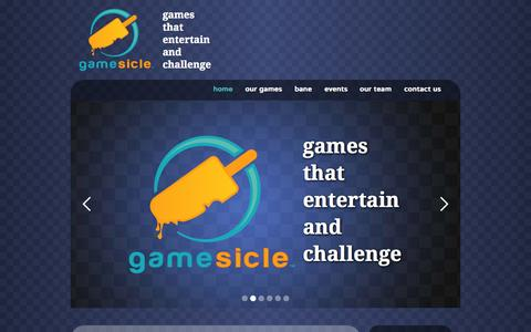 Screenshot of Home Page gamesicle.com - gamesicle | games that entertain and challenge - captured June 18, 2015