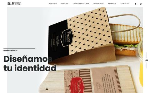 Screenshot of Home Page dalediseno.com.ar - DALE!DISEÑO | Estudio de Diseño | Buenos Aires - captured Oct. 11, 2017