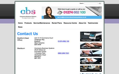 Screenshot of Contact Page commercebusinesssystems.co.uk - Commerce Business Systems - Contact Us - captured Oct. 2, 2014