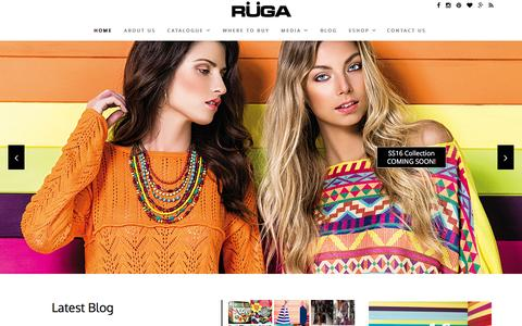 Screenshot of Home Page rugastore.com - RÜGA :: Moda Online - captured Feb. 18, 2016