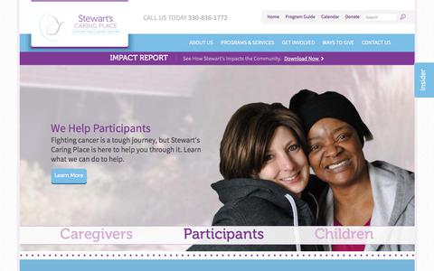Screenshot of Home Page stewartscaringplace.org - Stewarts Caring Place | Free Cancer Support Services - captured Nov. 7, 2017