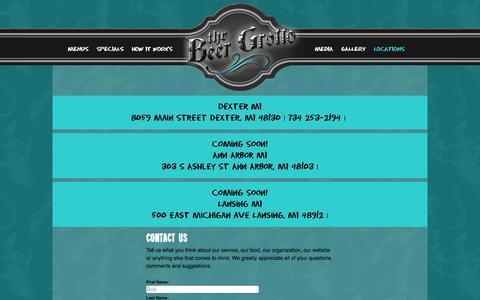 Screenshot of Contact Page beergrotto.com - Beer Grotto Contact - captured Oct. 1, 2014