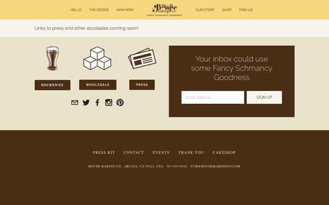 Screenshot of Press Page boujiebakingco.com - Press Ń Boujie Baking Co. - captured Jan. 7, 2016