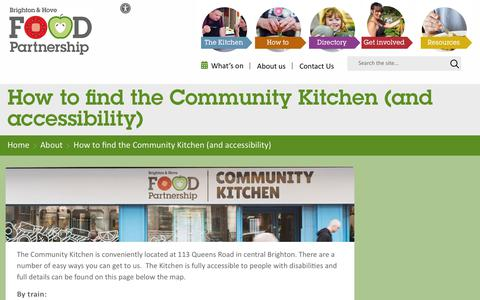 Screenshot of Maps & Directions Page bhfood.org.uk - How to find the Community Kitchen (and accessibility) – Brighton and Hove Food Partnership - captured Dec. 19, 2018