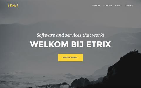 Screenshot of Home Page etrix.nl - { Etrix } - captured July 24, 2015