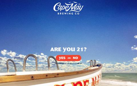 Screenshot of FAQ Page capemaybrewery.com - Frequently Asked Questions - Cape May Brewing Co - captured Sept. 26, 2018
