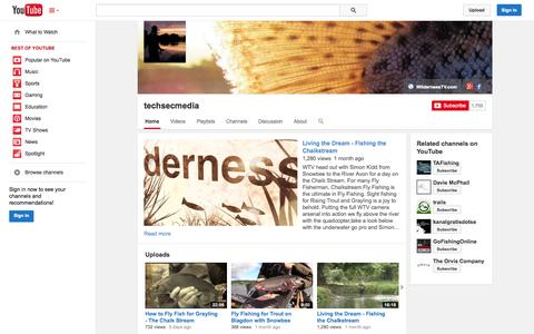 Screenshot of YouTube Page youtube.com - techsecmedia  - YouTube - captured Oct. 26, 2014