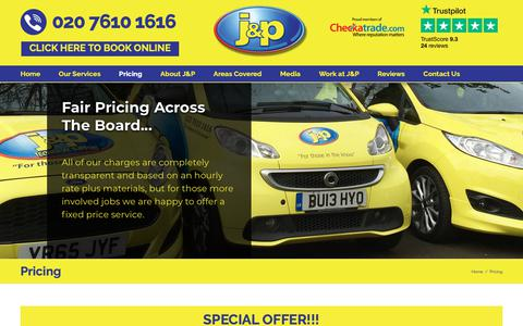 Screenshot of Pricing Page thejandpgroup.co.uk - Pricing - J&P Plumbing and Heating - captured Dec. 16, 2018