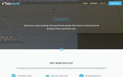 Screenshot of Jobs Page taskworld.com - Taskworld - Join The Team  | Taskworld - captured Sept. 24, 2014