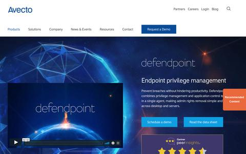 Avecto - Defendpoint endpoint privilege management