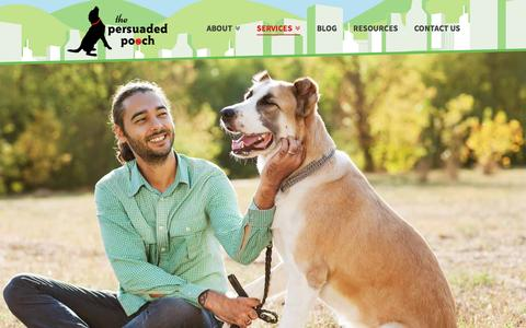 Screenshot of Services Page persuadedpooch.com - The Persuaded Pooch | Dog Services to Fit Your Needs - captured Dec. 1, 2016