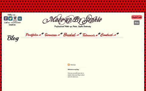 Screenshot of Blog make-upbysophie.co.uk - Blog - Make-up by sophie - captured Oct. 29, 2014